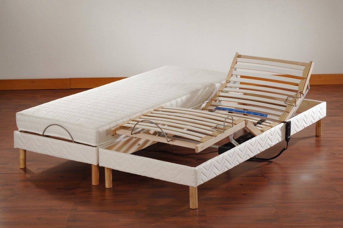 Ensemble literie relaxation électrique ROCCA 2 x 70 x 190 cm