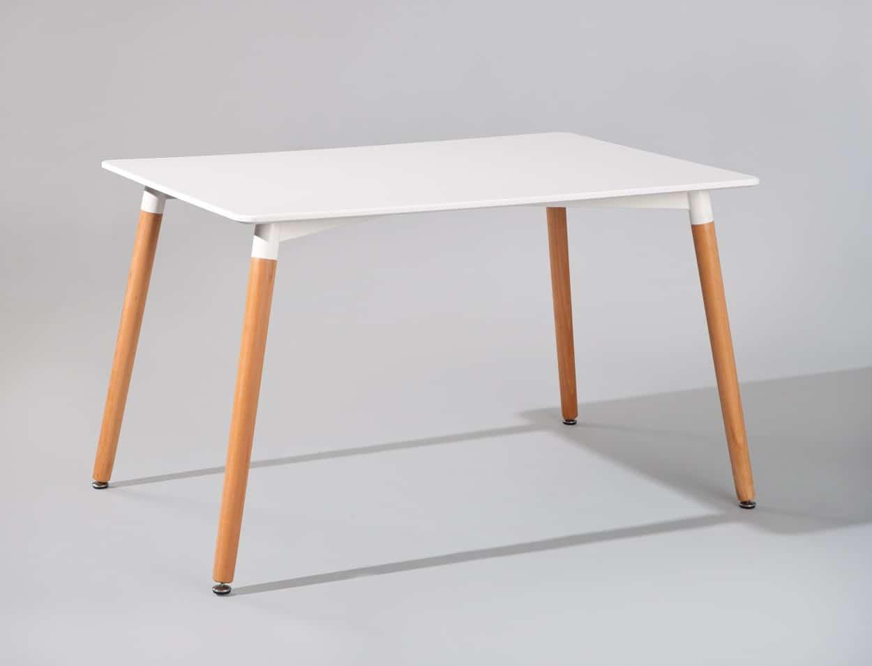 Table de cuisine design blanche Cayenne