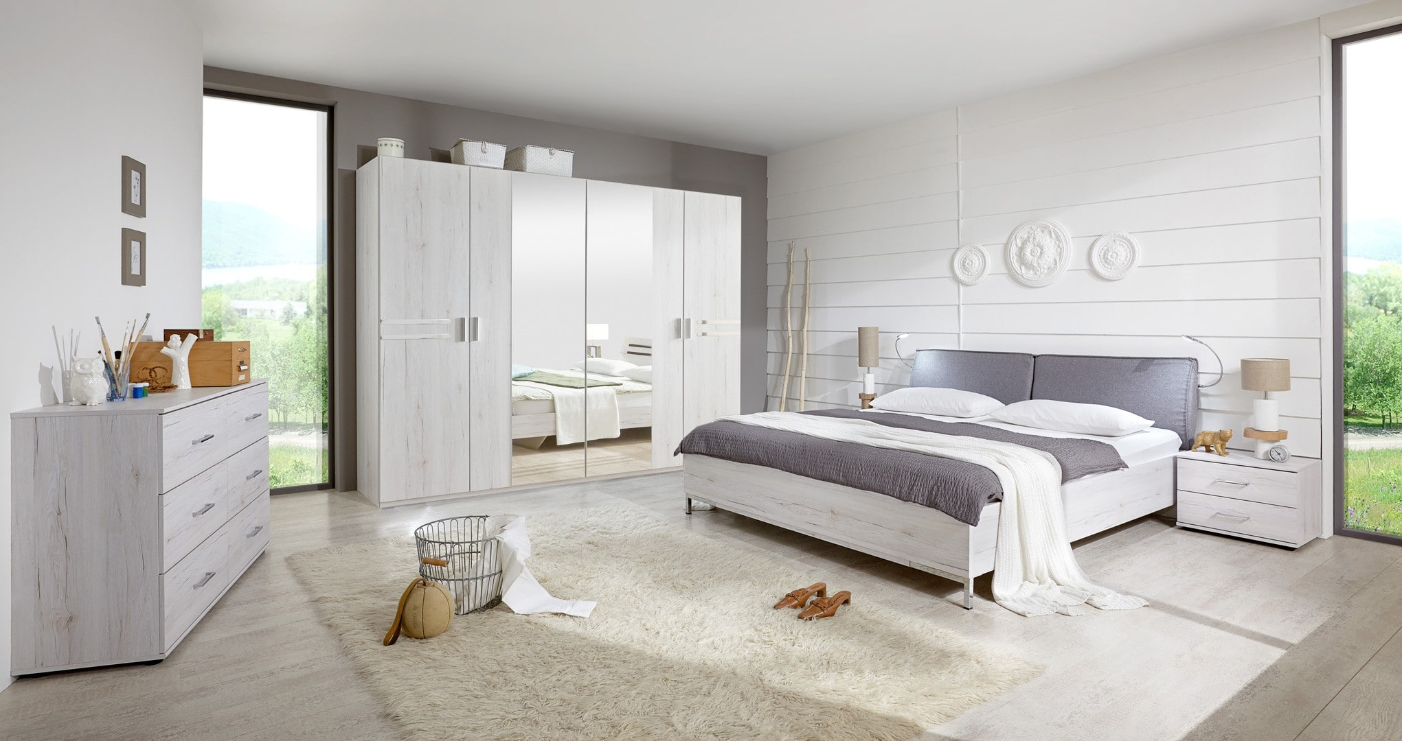 une chambre coucher moderne le blog matelpro. Black Bedroom Furniture Sets. Home Design Ideas