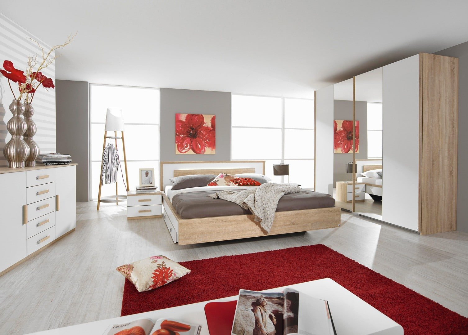 chambre moderne adulte blanche. Black Bedroom Furniture Sets. Home Design Ideas