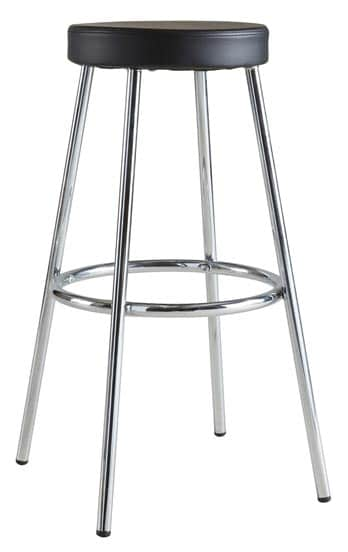 Tabouret de bar contemporain en métal chromé (lot de 2) Timeo