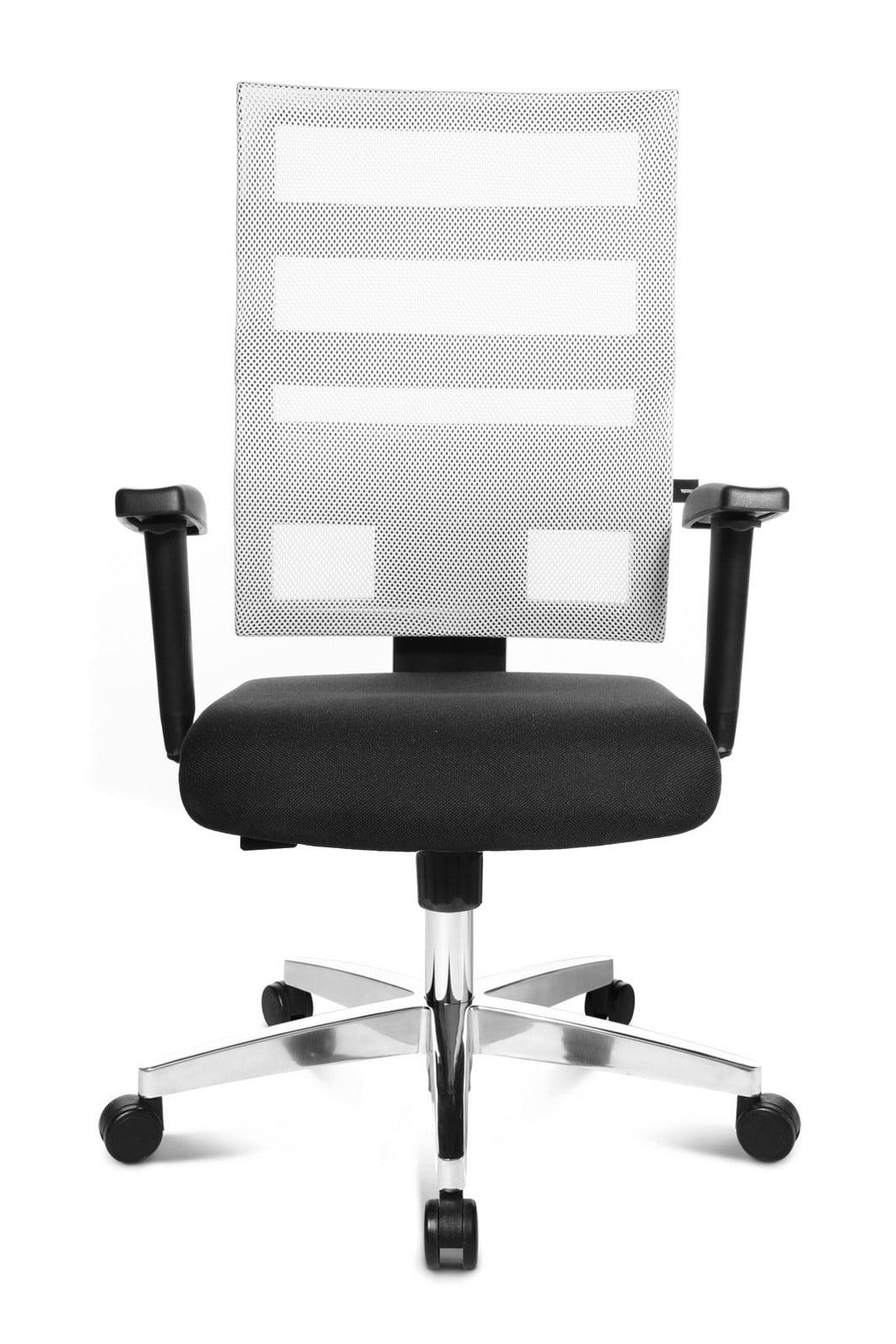 Chaise de bureau deisgn en tissu noir Alanis