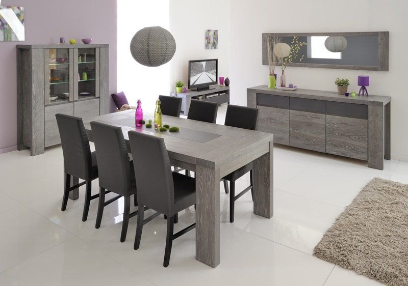 Trouvez la table id ale pour recevoir tous vos amis autour for Salle a manger chene gris