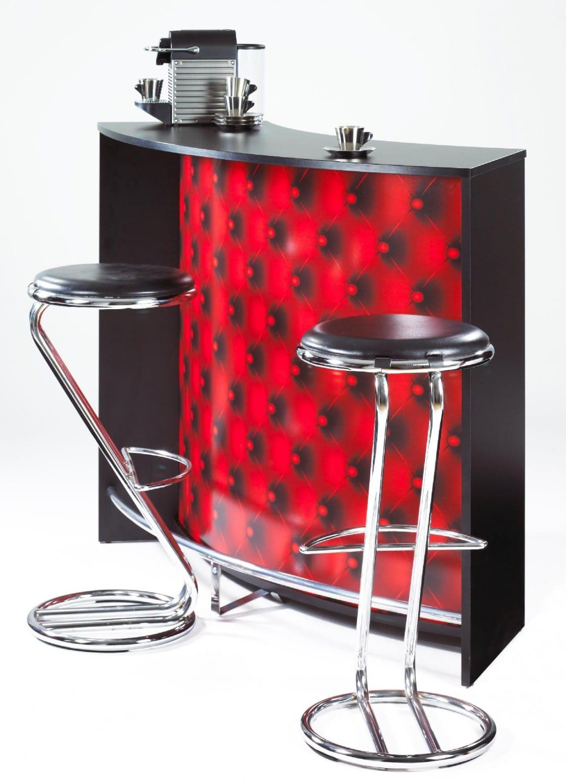bar design noir et rouge