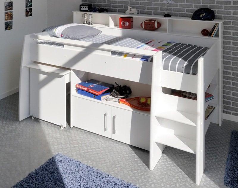 lit avec bureau modulable en dessous