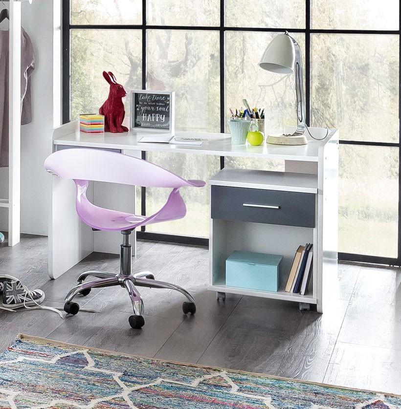 bureau-enfant-contemporain-coloris-blanc-anthracite-liziane