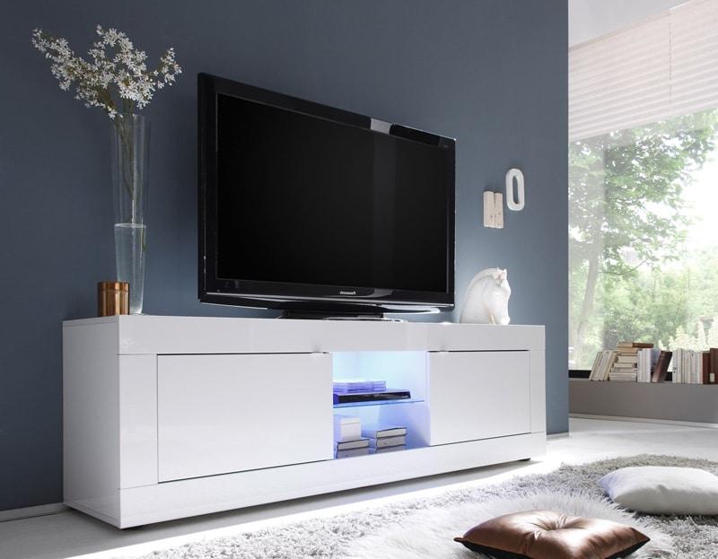 meuble-tv-design-2-portes-avec-_clairage-coloris-blanc-agathe