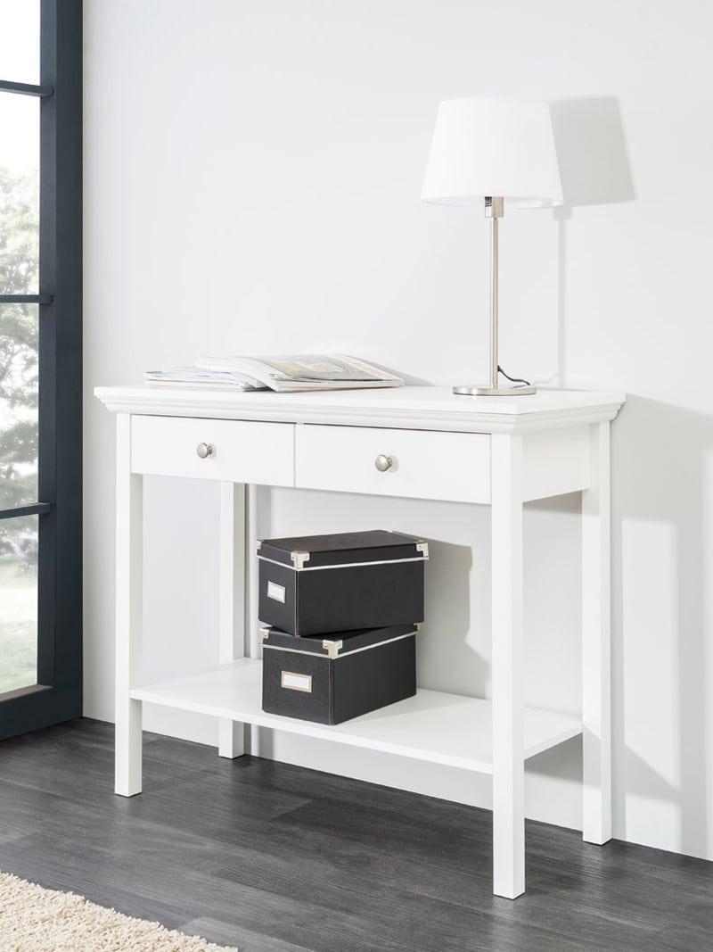 console-contemporaine-coloris-blanc