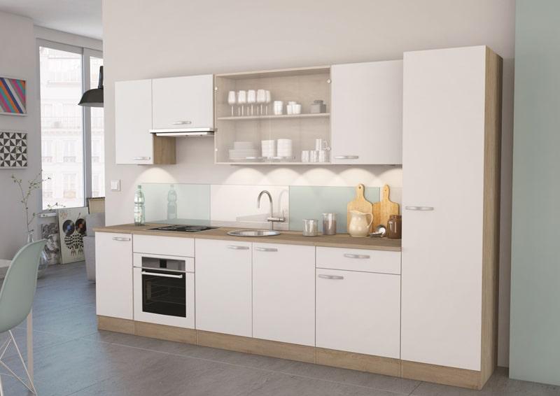 mobilier de cuisine design bicolore