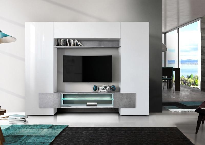banc tv design bicolore