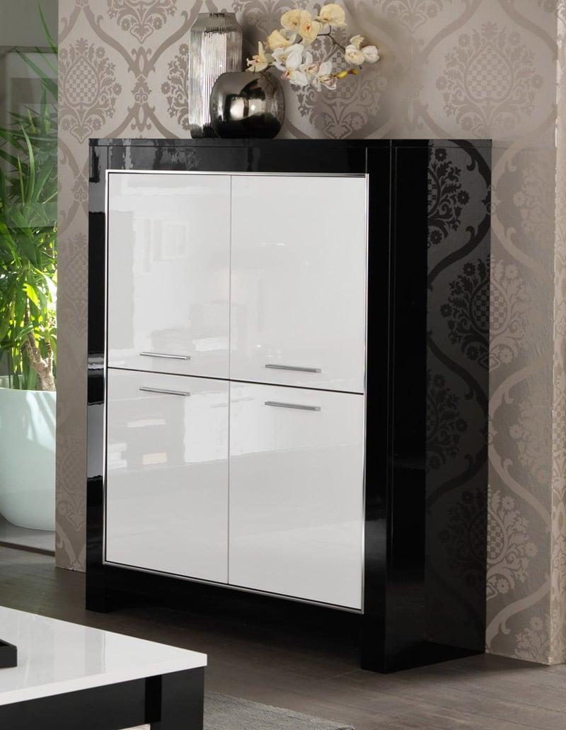 vaisselier noir et blanc Savana