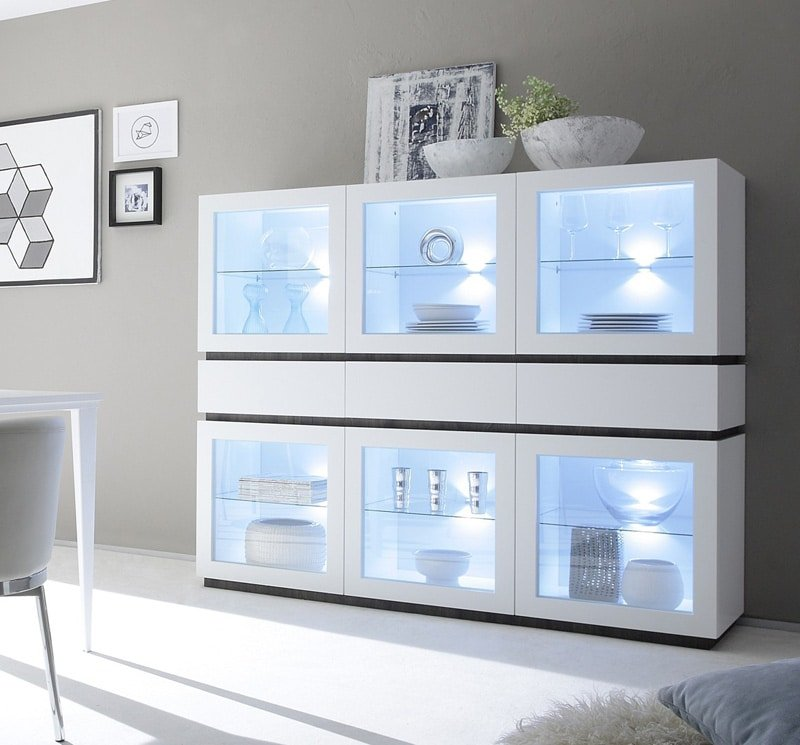 vitrine design led adele