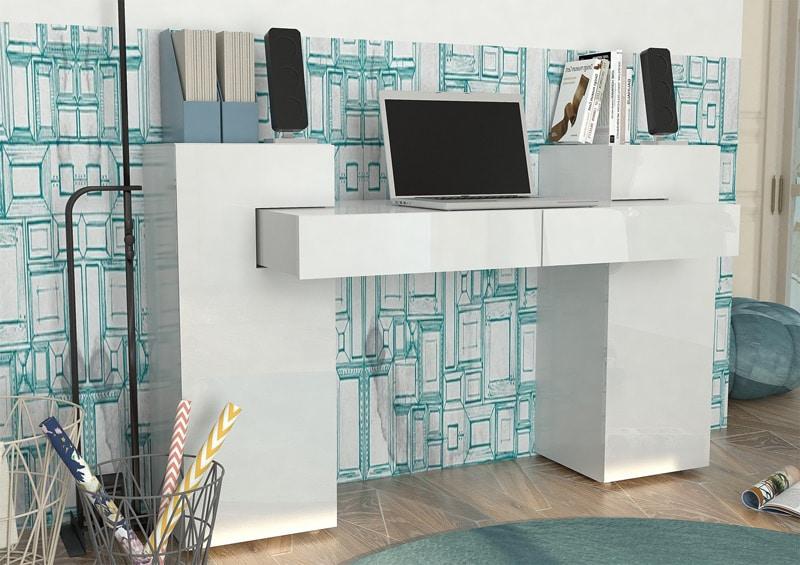 bureau-design-laqué