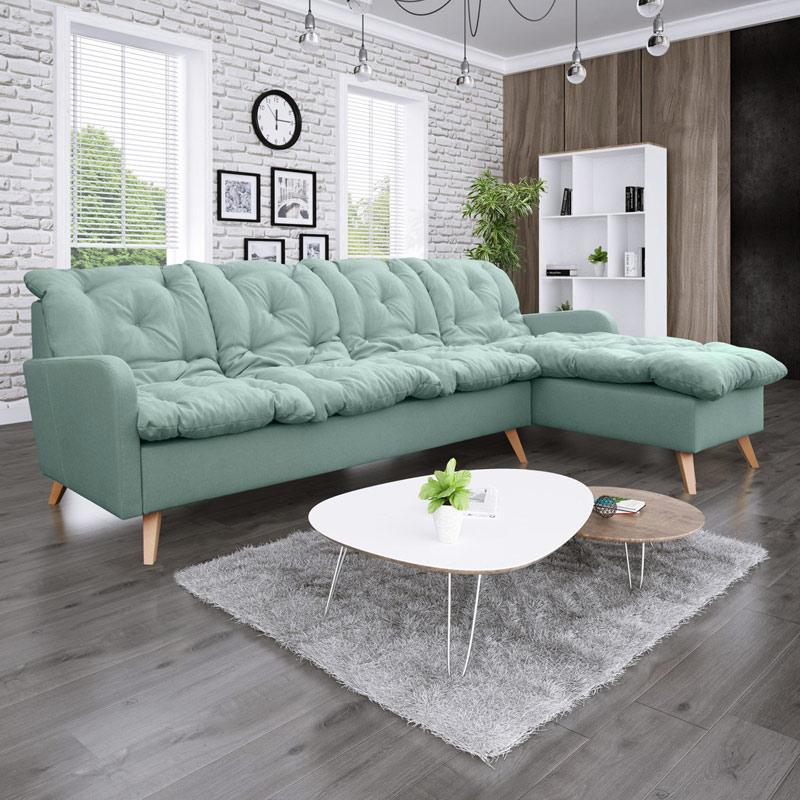 canapé d'angle moderne et confortable