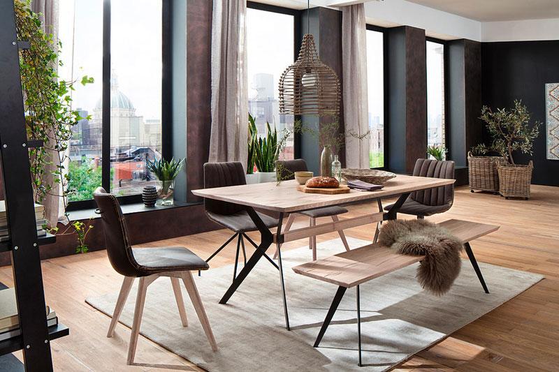 Table de salle à manger industrielle