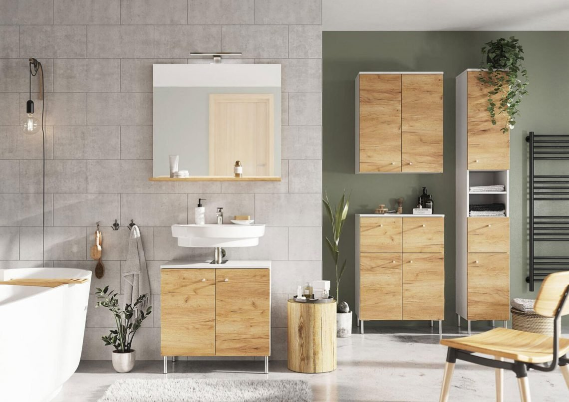 salle de bain chêne