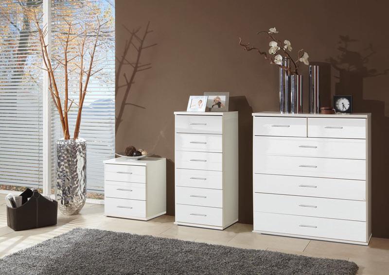 meubles de rangement blancs