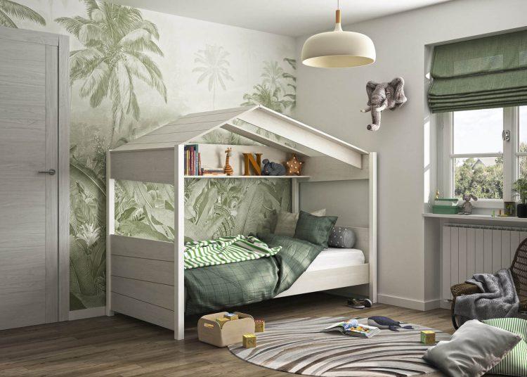 lit cabane chêne blanchi