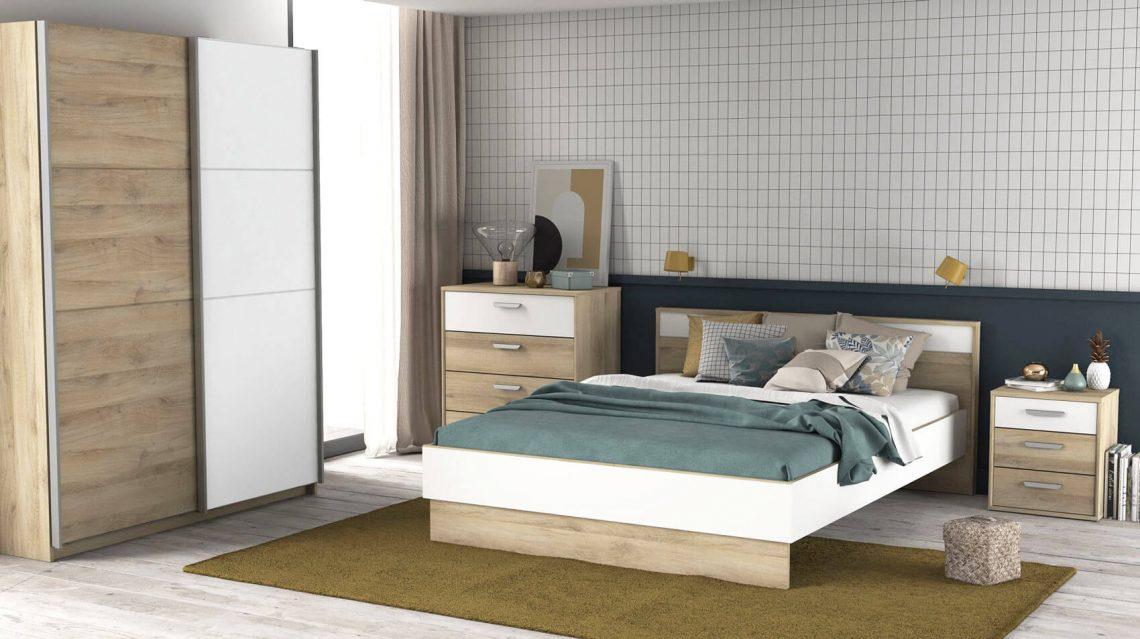 chambre adulte chêne-blanc